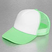 Неоново-зеленый кепка тракер с белым