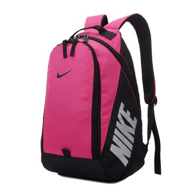 Городской рюкзак Nike розовый с черным логотипом (реплика)