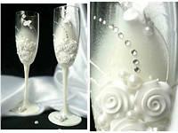 Свадебные бокалы  ручной работы ТЛ-1402