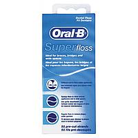 Зубная нить Oral-B Super Floss 50м
