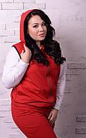 Женский спортивный костюм тройка в больших размерах x-t10151227