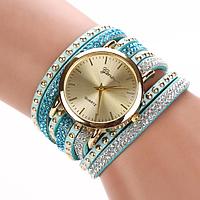 Женские часы с оригинальным ремешком Geneva Blue