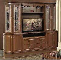 Мебель для гостиной Цезарь 2, буфет - сервант для гостинной комнаты готовый, 2500*2130*580