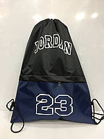 Рюкзак Jordan 114694 для сменной обуви разные цвета с карманом спортивный школьный 35*40*17см