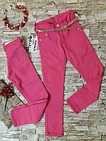 Коттоновые брюки на девочку 5-8 лет. Лайкра.Турция