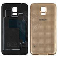 Задняя крышка батареи для мобильного телефона Samsung G900H Galaxy S5, золотистая