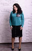 Женская юбка в батальных размерах n-t10151231