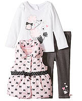 Детский комплект для младенца розовый пудель 74