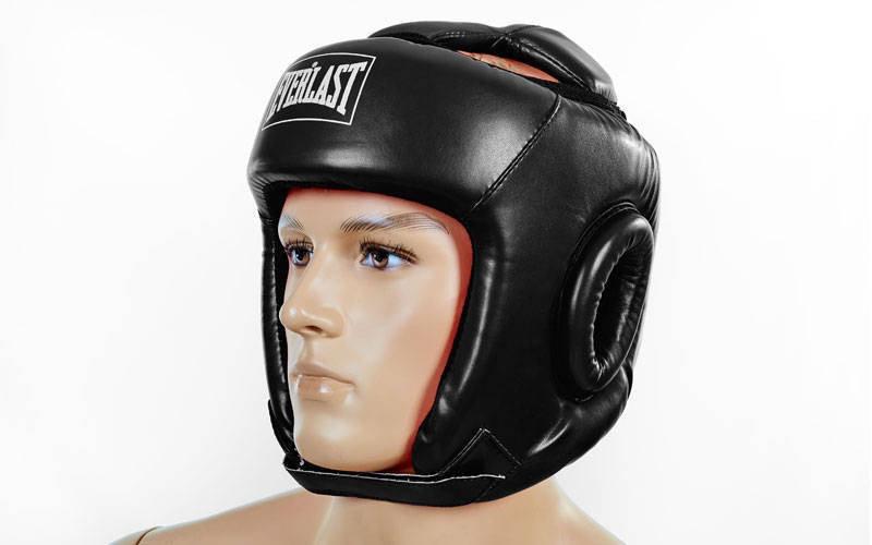 Шлем боксерский открытый черный PU EVERLAST. Распродажа!