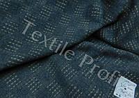 Льняная декоративная ткань (темно - серого цвета)