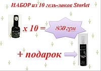 Набор 10 шт гель-лаков Starlet Professional 10 мл