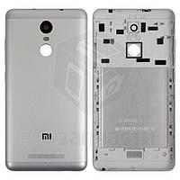 Задняя крышка батареи для мобильного телефона Xiaomi Redmi Note 3 Pro, серебристая, черная, original, с боковы