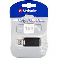 Флешка USB 2.0 16Gb Verbatim Store'n'go Pin Stripe Black