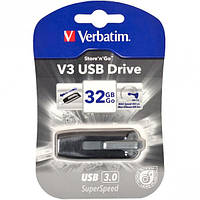 Флешка USB 3.0 32Gb Verbatim SuperSpeed V3 серый