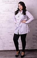 Удлиненная женская рубашка батал в расцветках t-t10151234