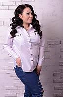 Стильная женская рубашка в больших размерах e-t10151235
