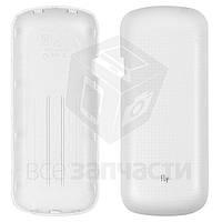 Задняя крышка батареи для мобильного телефона Fly DS103D, белая, original, #H-5005-C266CH-001