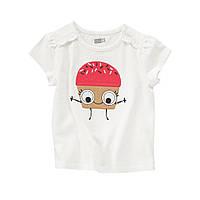 Детская футболка для девочки  3-6 месяцев