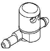 Форсунка (разбрызгиватель) омывателя (стеклоомывателя) лобового (ветрового) стекла левая (проходная) GM 1451264 13182861 OPEL CORSA-D