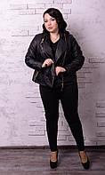 Женская куртка косуха в батальных размерах o-t10151237