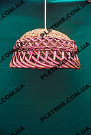 Абажур плетенный из лозы