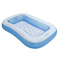 Детский надувной прямоугольный бассейн 57403 Intex, 166х100х28 см