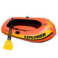 Двухместная надувная лодка Explorer 58332 Intex, 211х117х41см