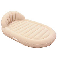 Надувная овальная двуспальная кровать-софа 67397 BestWay, 215х152х60 см