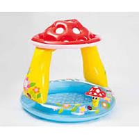 Бассейн детский надувной с навесом «Грибок» 57114 Intex, 102х89 см