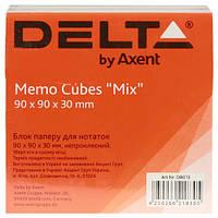 Блок бумаги для заметок«Mix» D8013Delta by Axent,90х90х30мм
