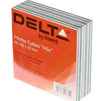 Блок бумаги для заметок«Mix» D8014Delta by Axent,90х90х30мм