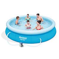Надувной семейный бассейн с фильтр-насосом 57274 Bestway, 366х76см