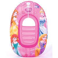 Плотик-лодочка детский надувной «Принцессы» 91044 Bestway, 102х69 см