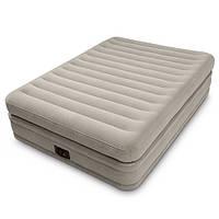 Надувная велюр кровать со встроенным электронасосом 64446 Intex, 203х152х51 см
