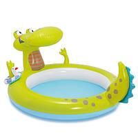 Бассейн детский надувной «Крокодил» 57431 Intex, 198х160х91 см