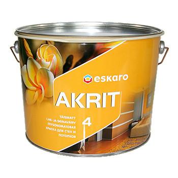 Краска Eskaro Akrit 4 Эскаро Акрит 4. 9,5 л (глубокий мат.)