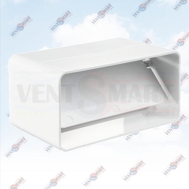 Внешний вид соединителя вентиляционных пластиковых труб с клапаном 5151/7171/8181 системы ПЛАСТИВЕНТ производства ВЕНТС (Украина). Соединитель с обратным клапаном для плоского воздуховода системы Пластивент изготовлены из пластика высокого качества, который не поддерживает горение, имеют гладкую внутреннюю поверхность, широкий диапазон температур эксплуатации ― от -30 до +70 град. Цельсия.