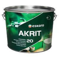 Краска Eskaro Akrit 20 Эскаро Акрит 20. 9,5 л ( полуматовая)