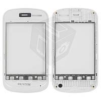 Передняя панель корпуса для мобильного телефона Fly IQ235, белая, original, #310100669