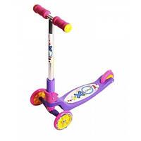 Самокат детский Tredia (Explore оригинал) поворот руля, руль складывается наклоном Фиолетовый