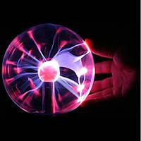 Плазменный шар большой 12 см, оригинальный ночник, шар молния Plasma Ball