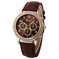 Женские часы Geneva Platinum коричневые, фото 1