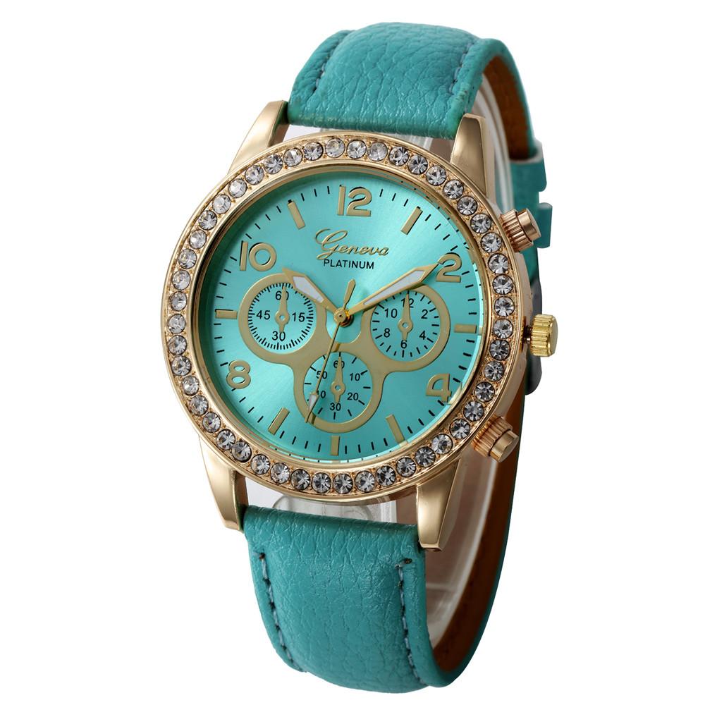 Женские часы Geneva Platinum бирюзовые, фото 1