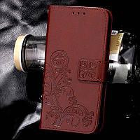 Чехол Doogee X5 / X5s / X5 pro книжка Clover коричневый женский