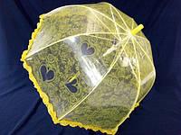Прозрачный детский зонтик с ажурным узором № 001 от Paolo