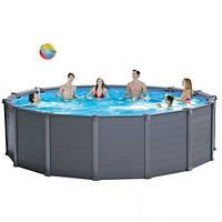 Каркасный бассейн Intex 28382. Graphite Panel Pool - 478 х 124 см