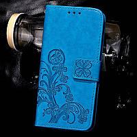 Чехол Doogee X5 / X5s / X5 pro книжка Clover blue женский