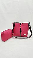 Малиновая женская сумка Fendi