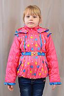 Короткая модная детская весенне-осенняя куртка на девочку, р.86,92,98,104