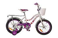"""Велосипед детский 16"""" FORMULA FLOWER 2017 фиолетовый"""
